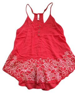 Xhilaration Embroidered Coral Top Melon