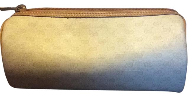 Item - Make Up Cream and Tan Leather Weekend/Travel Bag
