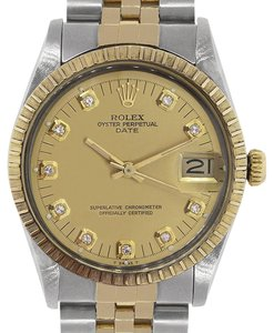 Rolex Rolex 15053 Date Two Tone Diamond Dial Mens Watch