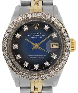 Rolex Rolex 6917 Datejust Two Tone Diamond Dial and Bezel Ladies Watch