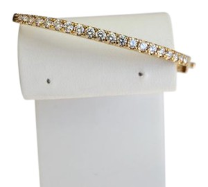 Other 2CT 14K Yellow Gold Diamond Bangle Bracelet