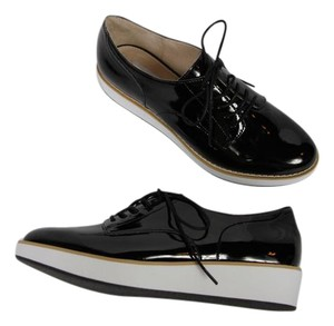 Steve Madden Oxfords Patent Leather Lace-up Black & White Platforms