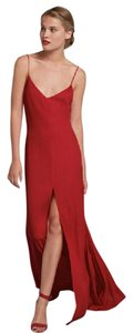 Reformation Red Floor Length Gown Black Tie Sexy Dress