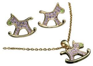 Other New Adorable 3pc Rocking Horse Jewelry Set