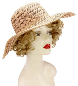 eed9280a243 Sun Hat New Linen Dressy straw floppy sun hat with bow band