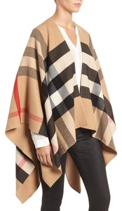 Burberry Iconic Check Wool Cape