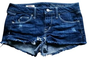 SOLD Design Lab Denim Dark Wash Jorts Distressed Cut Off Shorts Blue