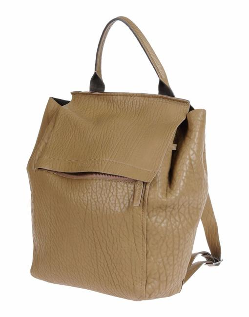 Item - New Tags Italy Large Rucksack Khaki Brown Leather Backpack