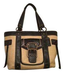 Coach Tote in black and tan