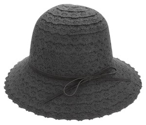 Sun Hat New Dressy Crochet lace sun hat with faux suede ribbon