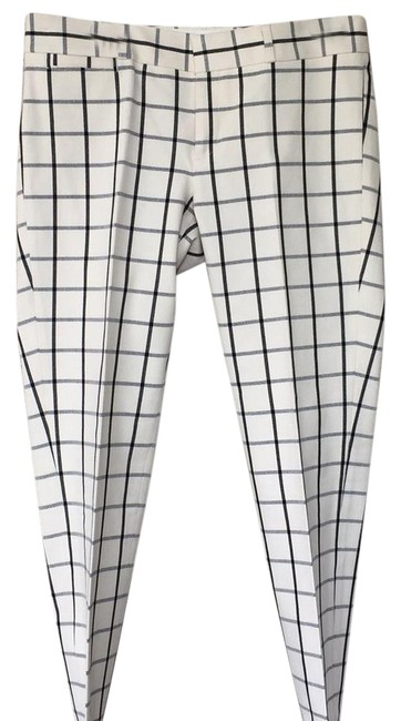 Item - Black/Ivory Sloan Fit Pants Size 8 (M, 29, 30)
