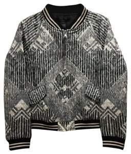 Marc by Marc Jacobs Metallic Bomber Black and Silver Jacket