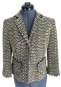 Boho Chic Tweed Jacket Size 8 Multicolor Blazer