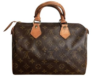 Louis Vuitton Monogram Canvas Speedy 25 Satchel in Brown