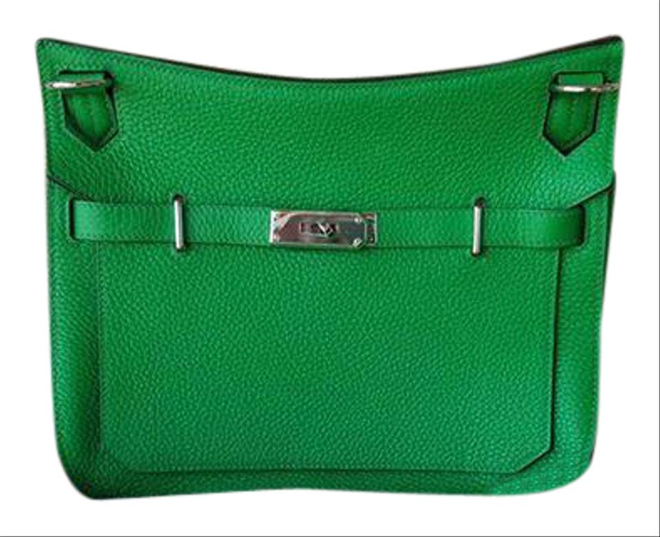 15302a16d8 Hermès Jypsiere Taurillon Clemence Gypsy 28 Bambou Green Leather ...