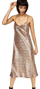 Zara Sequin Strappy Midi Dress