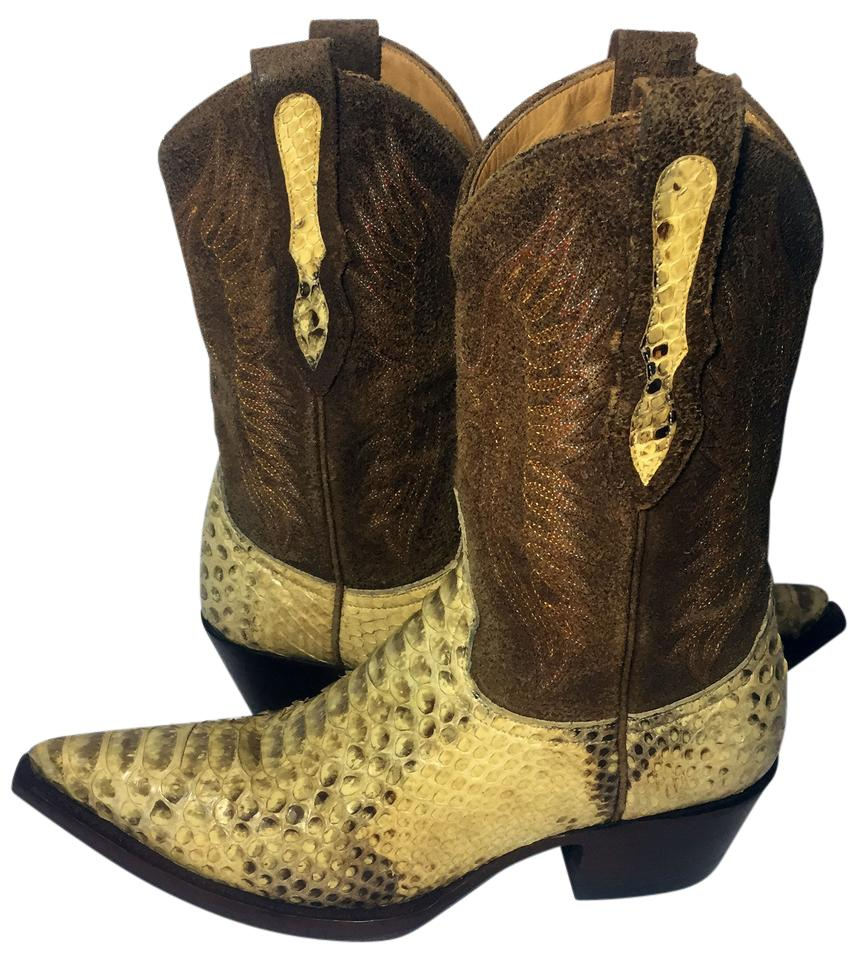 d16a72649ed Old Gringo Yellow Python Snakeskin Cowgirl Women Boots/Booties Size US 5.5  Regular (M, B) 68% off retail