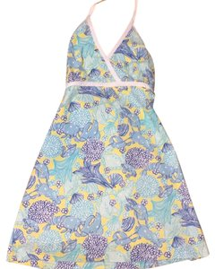 Lilly Pulitzer short dress yellow and blue on Tradesy
