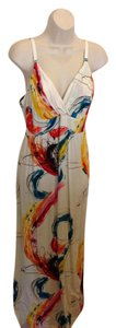 Cream and Multi Color Maxi Dress by Jams World Nwt Made In Hawaii Floral Maxi Maxi 100% Rayon