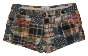 American Eagle Outfitters 4 Pocket Style Zip Fly 100% Mini/Short Shorts Multi-Colored