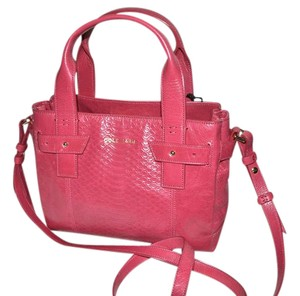 Cole Haan Leather Mini Satchel in PINK