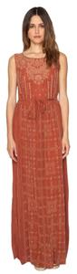 Marsala Maxi Dress by Johnny Was Embroidered Sleeveless Maxi Rayon Belted