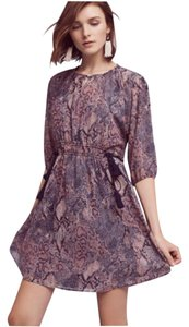 Anthropologie short dress Pinks Purples Floreat Zharah Flowy Spring on Tradesy