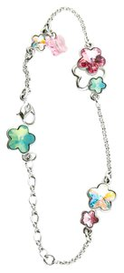 Swarovski * Swarovski butterfly flower multi-color crystal charms bracelet.