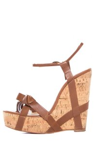 Christian Louboutin Cognac Wedges