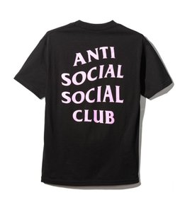 Anti Social Social Club Fashion Print Street Hype T Shirt black, pink