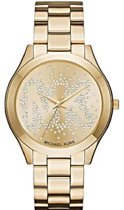 Michael Kors Michael Kors Women's Slim Runway Gold-Tone Bracelet Watch MK3590
