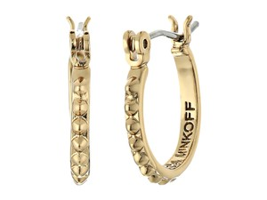 Rebecca Minkoff Gold Tone New Rebecca Minkoff Studded Hoop Earrings