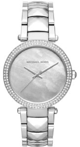 Michael Kors Silver Parker Three-Hand Bracelet Watch