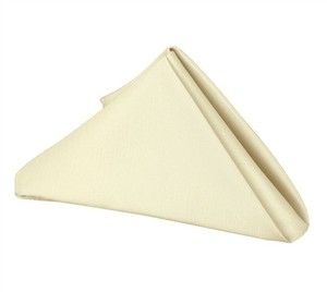 Lot Of 125 Poly Ivory Napkins