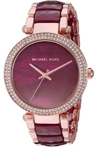 Michael Kors Michael Kors Women's Parker Two-Tone Acetate Bracelet Watch MK6412