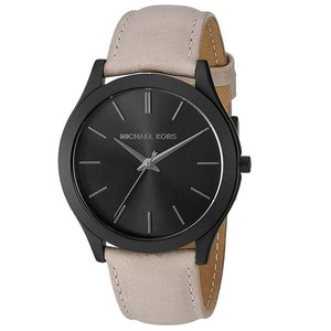 Michael Kors Michael Kors Men's Lexington Black Leather Strap Watch MK8510