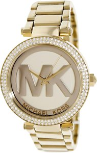 Michael Kors Michael Kors Women's Mini Bradshaw Gold-Tone Tort Acetate Watch MK5784
