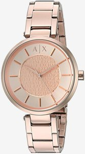 A|X Armani Exchange Armani Exchange Women's Street Rose-Tone Bracelet Watch AX5317