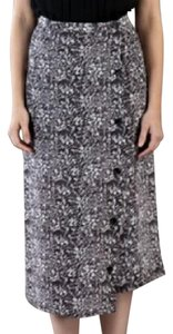 Rachel Comey Silk Print Button-front Skirt