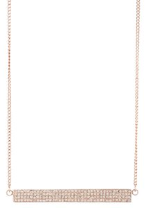 Rebecca Minkoff Gorgeous New Rebecca Minkoff Rose Gold Pave ID Pendant