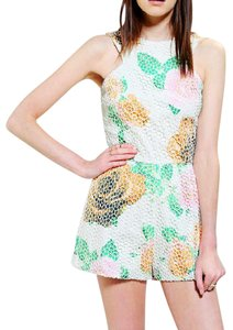 shakuhachi Floral Print Mesh Sleeveless Dress