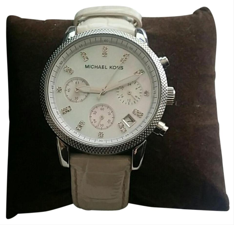 20c76b23a714 Michael Kors White Mk Mother Of Pearl Watch - Tradesy