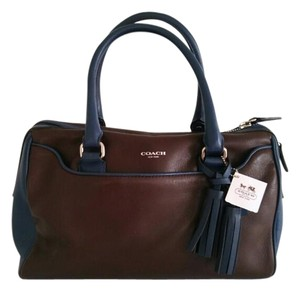 Coach Satchel in Midnight Oak/Castle Blue
