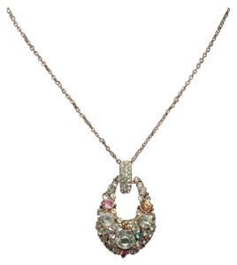 Other New Multi Color Austrian Crystal Gold Tone Necklace