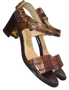 Salvatore Ferragamo brown Mules