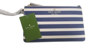 Kate Spade Leather Wristlet in Blue and White