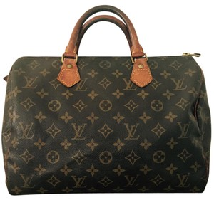 Louis Vuitton Speedy 30 Vintage Monogram Canvas Satchel in Brown, Tan