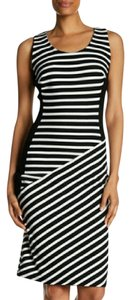 Sharagano Augusta Striped Midi Sheath Dress
