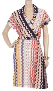 Missoni short dress Multicolor Italy Wrap Zig Zag Reanna Spring Summer L Large Orange Label Rare Polo Chevron on Tradesy