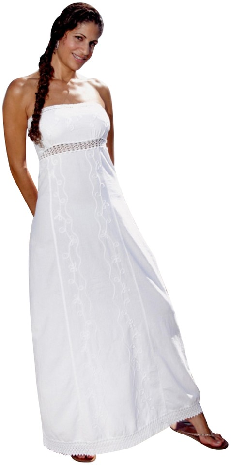 f696eb3e9a31 Lirome White Empire Waist